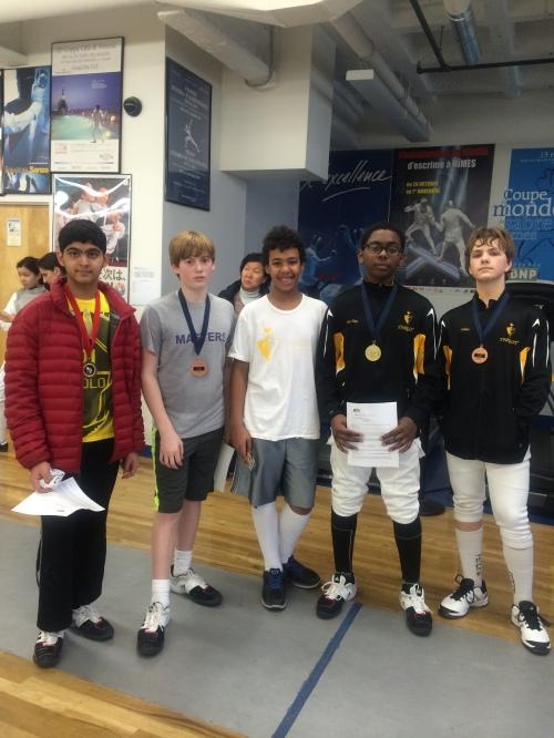 The Y14 Men's Saber Finalists